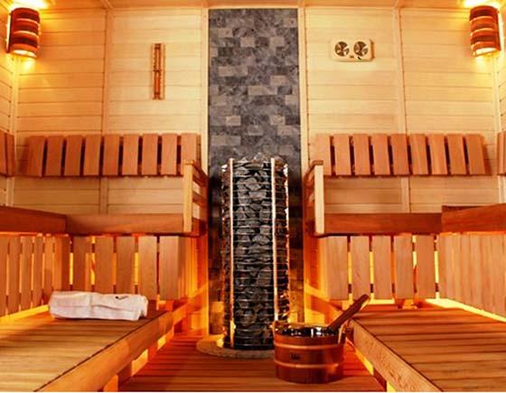 Пример парилки в деревянной бане