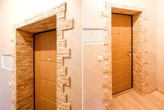 оформление входной двери внутри квартиры 5 вариантов