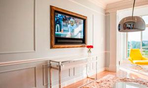 25 вариантов оформления стены с телевизором в гостиной