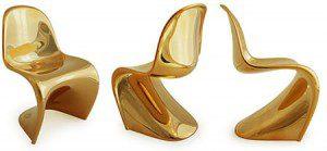 Мини Стулья Понтон в металлическом золоте