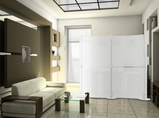 Ширма в дизайне спальни фото
