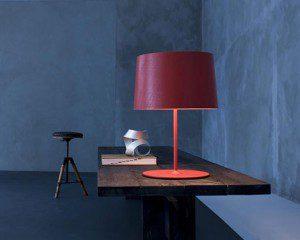 настольная лампа, фото настольной лампы, красная настольная лампа