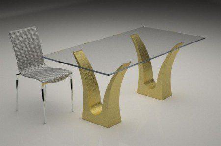 Современные стеклянные кофейные и обеденные столы из цветной основой