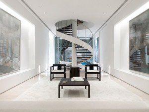 дизайн лестницы в современном доме, фото