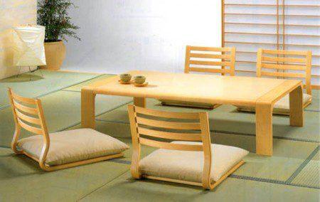 Японская мебель для столовой в минималистском японском стиле