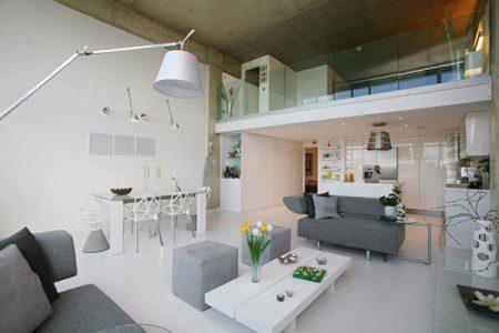 Красивый дизайн интерьера пентхауса в Лондоне