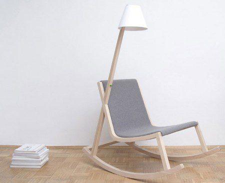 Кресло качалка, генерирующая электричество из качаний