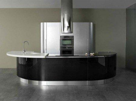 Современная округлая кухонная мебель от Aran Cucine