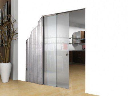 Современные раздвижные стеклянные двери от Scrigno