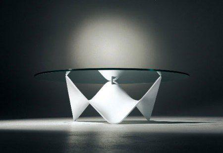 Стеклянный кофейный столик от Draenert