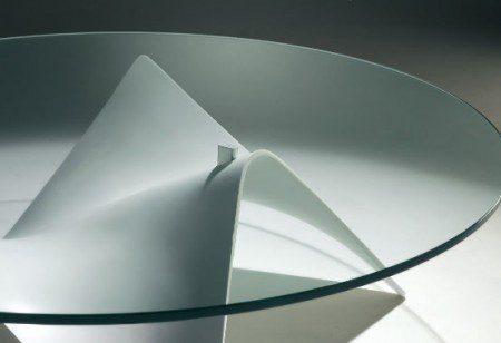 Стеклянный кофейный столик от Draenert. Фото 2