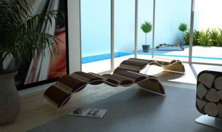 Уникальное кресло шезлонг от Answerdesign