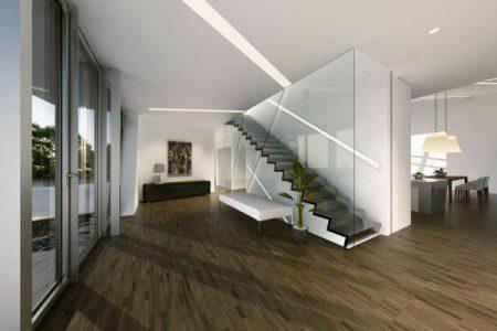 фото лестницы в загородном доме