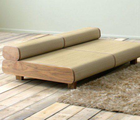 дизайн дивана в японском стиле