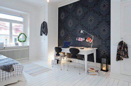 черные и белые цвета в дизайне квартиры
