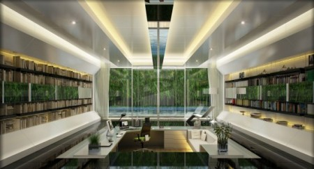 Дизайн домашнего офиса от Kee3d
