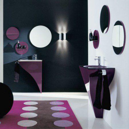 дизайн интерьера фиолетовый цвет