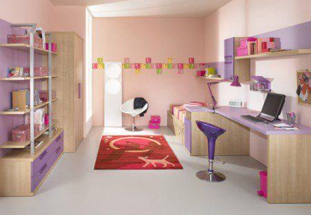 детская комната фиолетовый цвет