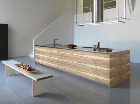 Мебель для кухни в деревянной отделке