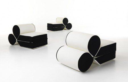 необычный диван-кресло фот и дизайн