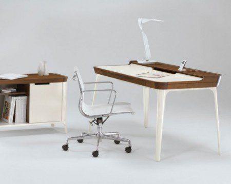 Рабочий стол для современного домашнего офиса от Kaijustudios