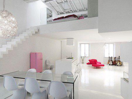 Современный дизайн интерьера в белом цвете