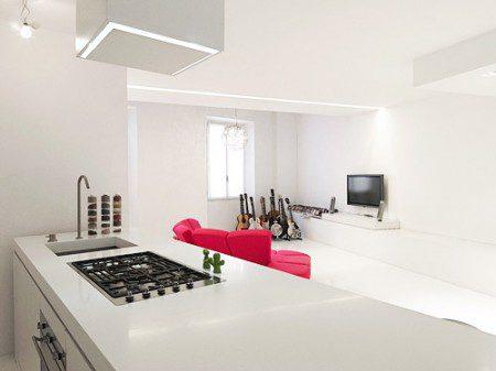 дизайн интерьера кухни в белом цвете
