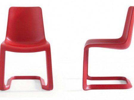 Стильные красные стулья для современной столовой от Pianca