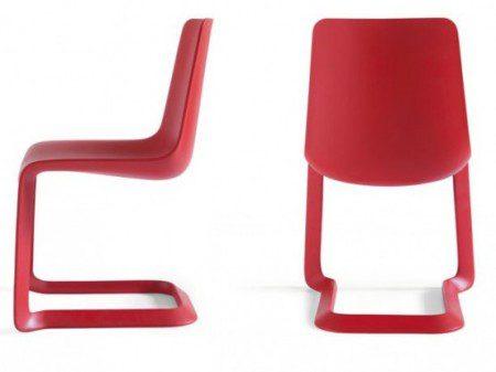 Стильные красные стулья для современной столовой от Pianca-2