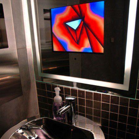Зеркала для ванной со встроенным телевизором от Seura
