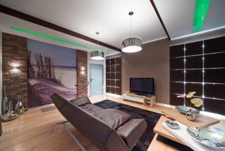 Дизайн интерьера квартиры, что дает ощущение жизни на побережье