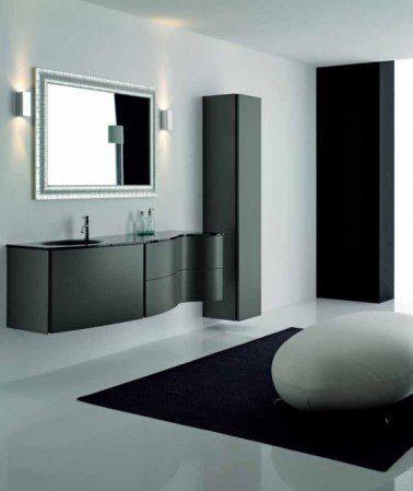 Элегантная черная мебель для ванной комнаты от Novello