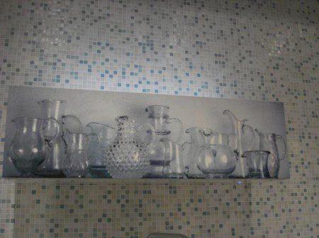 Кухонный буфет с расписными дверцами: Милан 2010