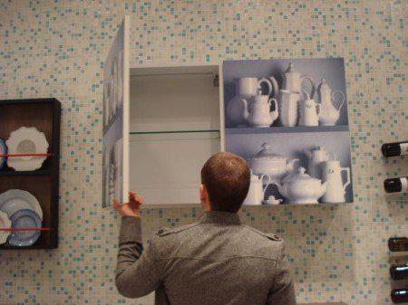 необычный шкаф для кухни фото