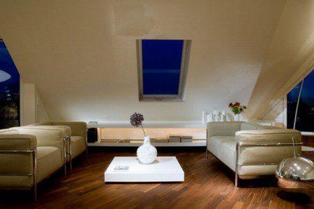 Квартира на чердаке с изящным современным проектом