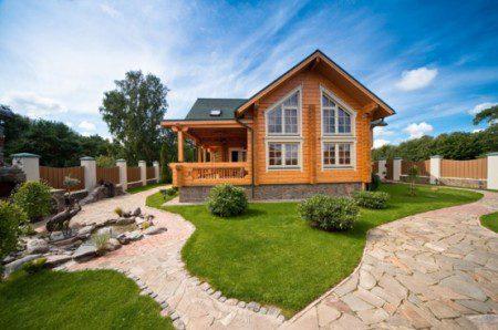 Проект деревянного дома в стиле прованс