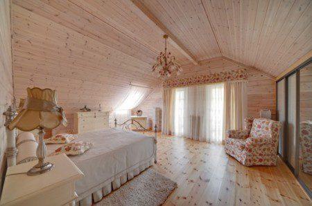 дизайн интерьера спальни с использованием дерева