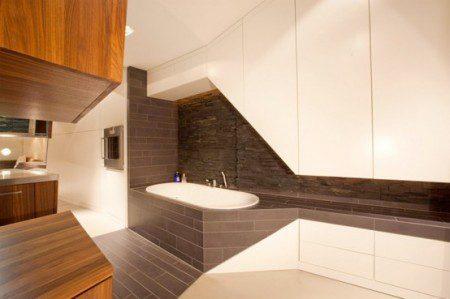 дизайн интерьера ванной комнате на чердаке
