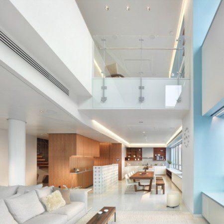 Удивительный дизайн интерьера современного дуплекса