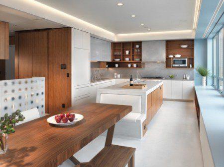 дизайн интерьера кухни в дуплексе
