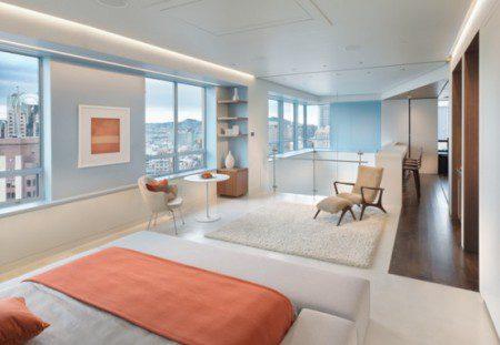 дизайн интерьера спальни в дуплексе