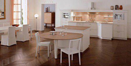 дизайн интерьера кухни в белом цвете фото