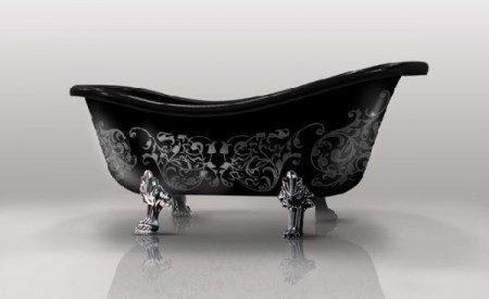 фото черной ванны