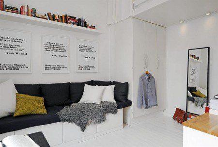 дизайн однокомнатных маленьких квартир