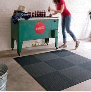 Джинсовые коврики от FLOR