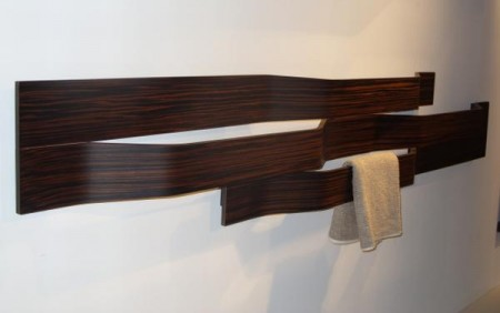 Элегантные деревянные вешалки для полотенец, Милан 2010