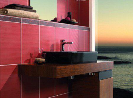 интерьер плитки в ванной