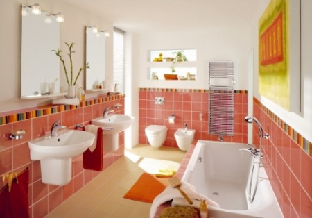 интерьер ванной и туалета