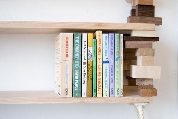 Деревянные полки своими руками для книг