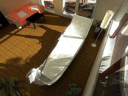 фото кровати в виде гондолы
